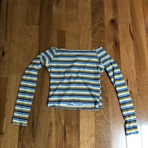Tight off the shoulder long sleeve shirt